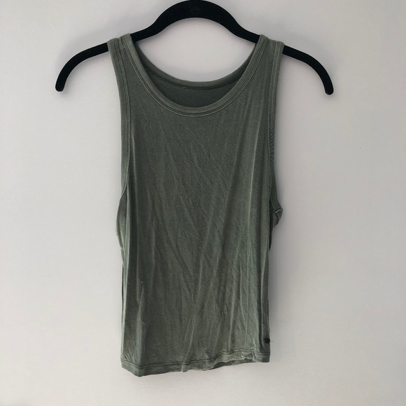 American Eagle Outfitters Tops - American Eagle Green Cropped Tank